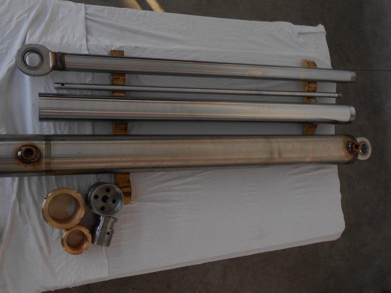 Componenti cilindro sfilante in acciaio inox